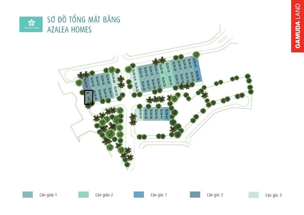 bảng giá và chính sách biệt thự Azalea Homes