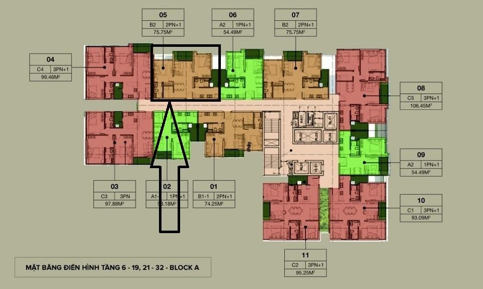 căn hộ 07 tầng 15 Tòa A