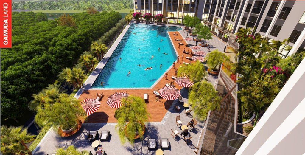 bể bơi dự án Central Residence gamuda