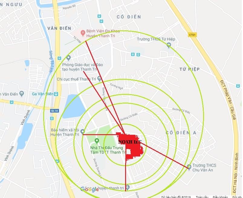 vị trí nhà ở xã hộ IEC Tứ hiệp, Thanh Trì