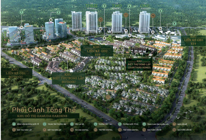 So sánh Gamuda Gardens và Louis City Hoàng Mai