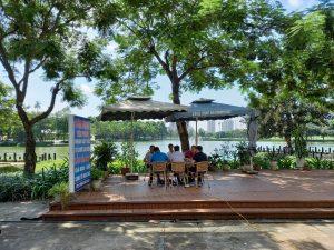 view hồ nhà hàng lake side