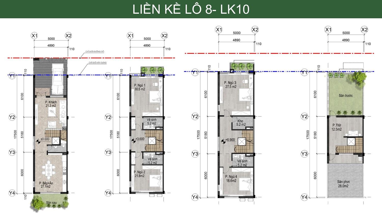 thiết kế chi tiết mẫu liền kề bản đồ liên kết vùng Hà Đô Charm Villa